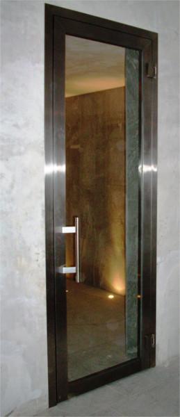 Porta inox sauna